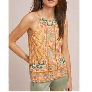 New Anthropologie Embroidered halter top
